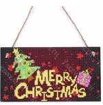 Houten bordje - Merry Christmas