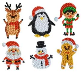 set met 6 Kerst stickers