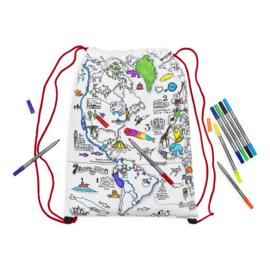 Kleur & leer rugzak wereld
