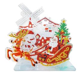 3D puzzel- Kerstman in de slee