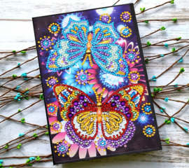 Notebook met 2 vlinders