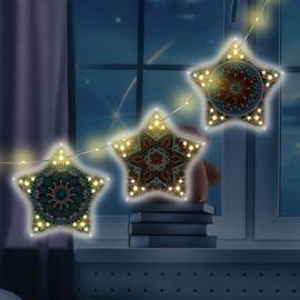 Kerstslinger met 3 sterren