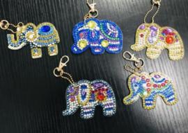 5 olifanten sleutelhangers