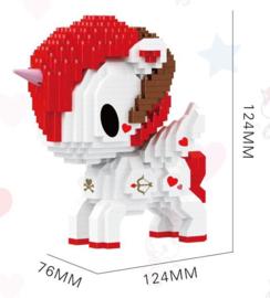 Diamond bricks - rood/witte eenhoorn