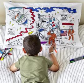 Kleur & leer kussensloop - de ruimte