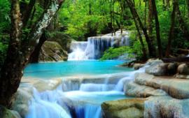 Waterval in het bos - 40 x 60 cm
