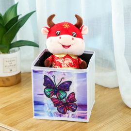 Kleine opbergbak - vlinders