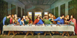 Het Laatste Avondmaal - Leonardo da Vinci - 80 x 40 cm
