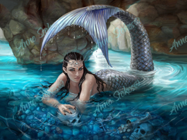 Hidden Depths - Anne Stokes Collection - 40 x 50 cm