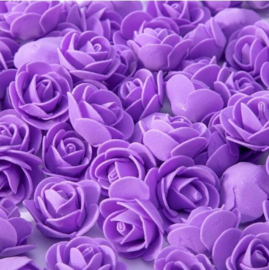 Paarse roosjes