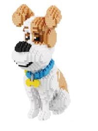 Diamond blocks - zittende hond