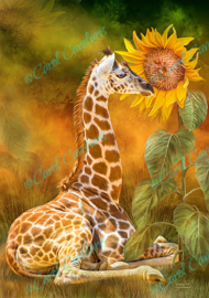 Growing Tall - Giraffe - Artwork by Carol Cavalaris