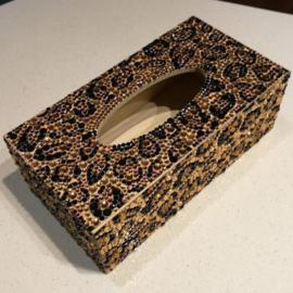 Boîte à mouchoirs - léopard
