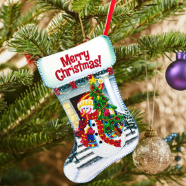 DIY Christmas decoration white sok