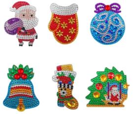 6 figurines de Noël aimantées