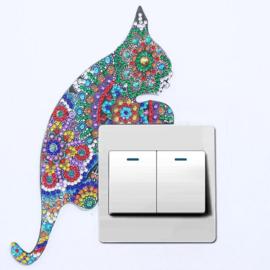 Light switch sticker Kat