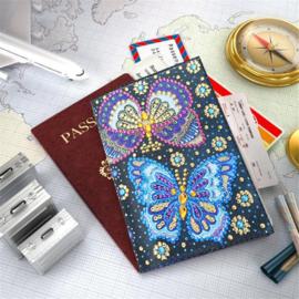 Paspoort cover met 2 vlinders