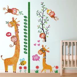 Groei sticker Giraffe