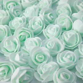 Licht groene roosjes