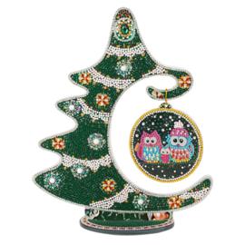 Tafel decoratie - Kerstboom met groene tinten