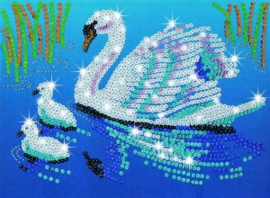 Sequin Art & Beads Swans
