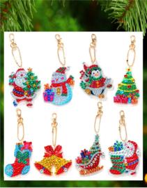 8 Shiny Kerstfiguren