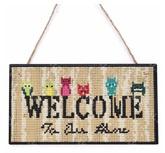 Houten bordje - Welcome uiltjes
