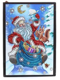 Notebook met Kerstman