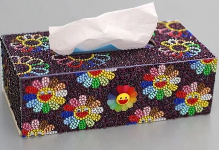 Tissue box met zonnetjes