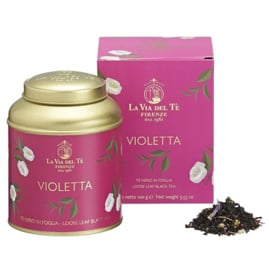 Violette Thee in 100 grams blik