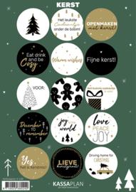 Stickervel Kerst A5 - 15 stuks