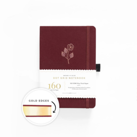 Archer & Olive Dotted Notebook A5 - Rose Gold  with Gold Edge