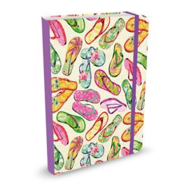 Peter Pauper Flip Flops notitieboek - gelinieerd