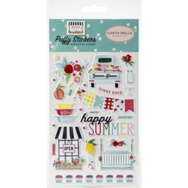 Carta Bella Summer Market Puffy Stickers