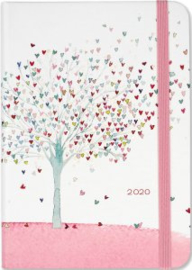 Peter Pauper Agenda 2020 Tree of Hearts Compact