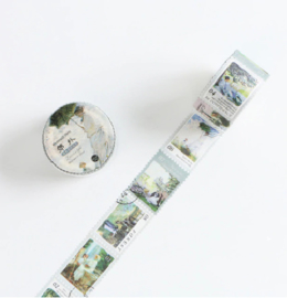 Washi Tape Stamp Scenery | Postzegel tape Landschap