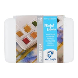 Van Gogh aquarelverf pocketbox 12 napjes - Muted colours