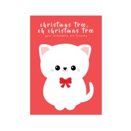 Kerstkaart - Cat Christmas