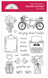 Doodlebug Design - Love Notes Collection - Doodle Stamps