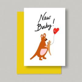 Wenskaart| Kangaroo New Baby