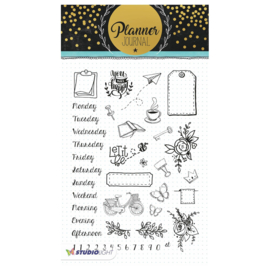 Studio Light - Clear Stamp A5 Planner journal nr. 05