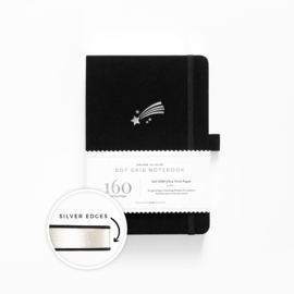 Archer & Olive  Dotted Notebook A5 - Shooting Star with Silver Edge