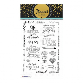 Studio Light - Clear Stamp A5 Planner journal nr. 03
