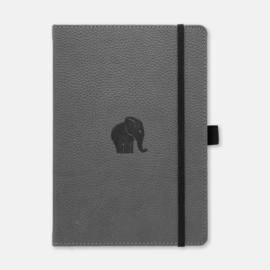 Dingbats* Wildlife A5+ Dotted Notitieboek - Grey Elephant