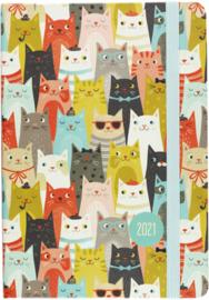 Peter Pauper 2021 Weekly Planner  16 mnd - Cats