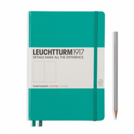 Leuchtturm1917 Notitieboek Medium Emerald Green Dotted