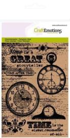 Craft Emotion Clear Stamp - Achtergrond klokken