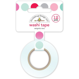 Doodlebug Design - Love Notes Collection - Washi Tape - Delightful Dots