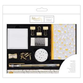 Noteworthy - Metallic Mono Large Stationery Set