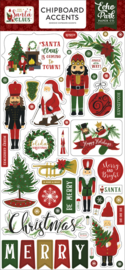 Echo Park Here Comes Santa Claus 6x13 Chipboard Accents
